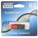 Produkt z kategorii- pendrive - GOODDRIVE FLASHDRIVE 8192MB USB 2.0 TWISTER Red