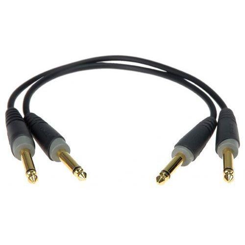 Klotz AU JJ0015 kabel patch stompbox 15cm, TS proste (2 szt.)