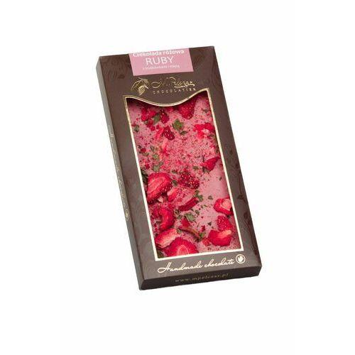 M.Pelczar czekolada różowa Ruby z truskawkami i miętą 85g (5902768996791)