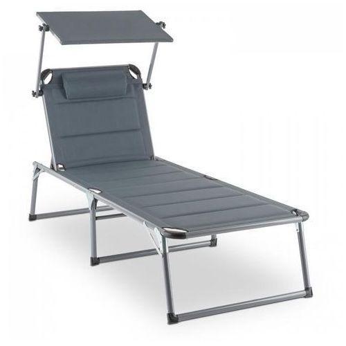 amalfi noble gray leżak 70x37x200cm osłona przeciwsłoneczna szary marki Blumfeldt