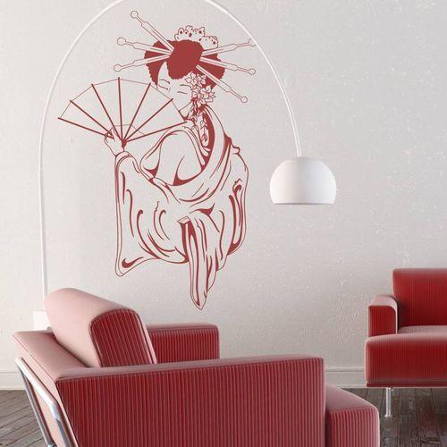 Naklejka ścienna geisha 2056 marki Wally - piękno dekoracji