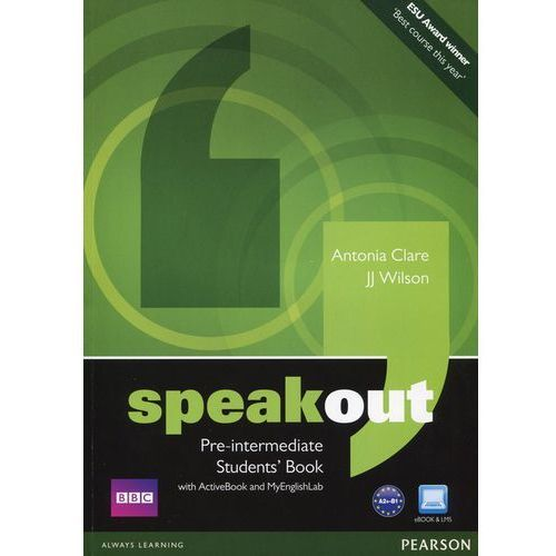 Speakout Pre-Intermediate, Student's Book (podręcznik) plus Active Book plus MyEnglishLab (176 str.)