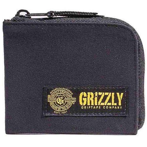 portfel GRIZZLY - G-Script Half-Zip Black (BLK)