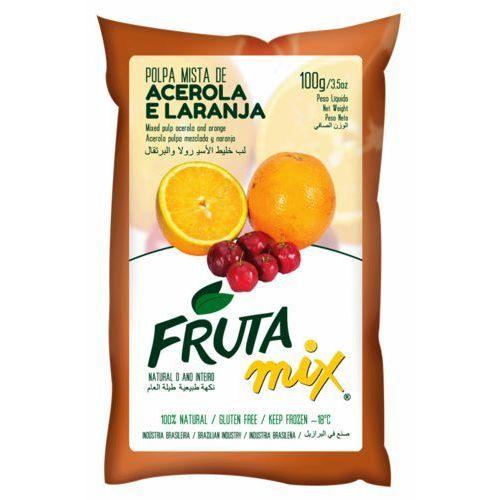 Mix acerola z pomarańczą miąższ (puree owocowe, sok z miąższem) bez cukru marki Frutamil comércio de frutas e sucos ltda