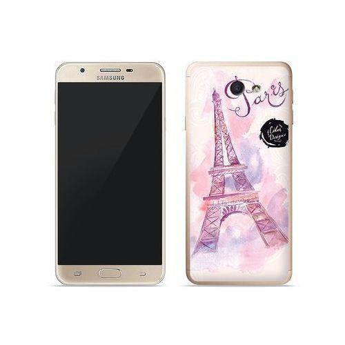 Samsung Galaxy J7 Prime - etui na telefon Fantastic Case - różowa wieża eiffla, kolor różowy