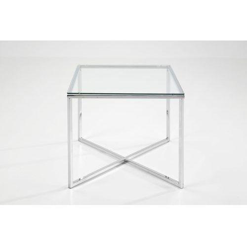 Actona Cross Lamp Stolik Kwadratowy Transparentny Szkło 50x50 cm - 0426862045 (stolik i ława do salonu) od sfmeble.pl