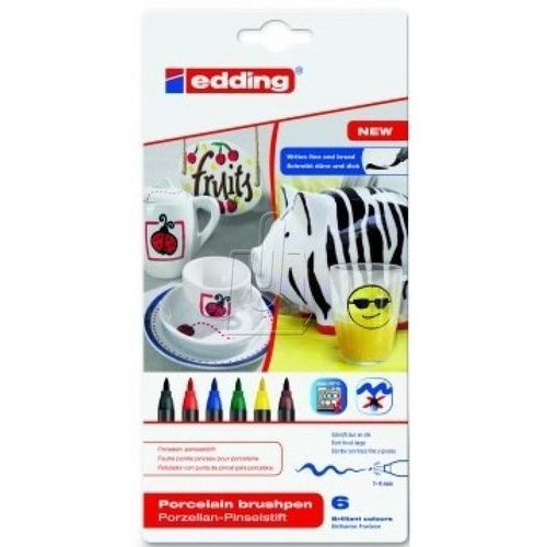 Porcelanowa długopis szczotka edding edding, sortowane, standardowe kolory (4004764928149)