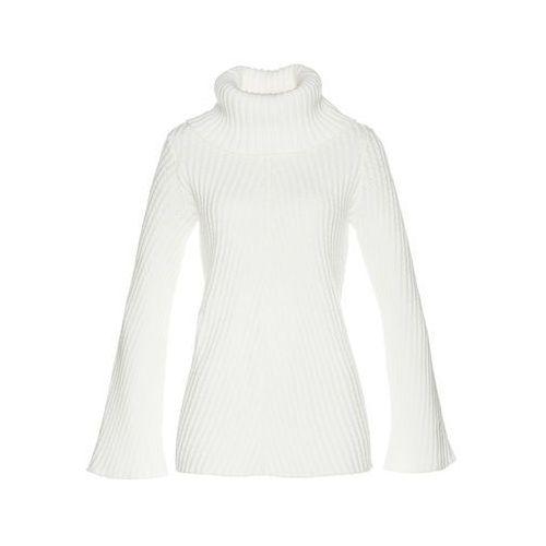 Sweter rozpinany, długi rękaw jasnoróżowy marki Bonprix