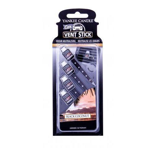 Yankee Candle Black Coconut Vent Stick zapach samochodowy 4 szt unisex (5038580059793)