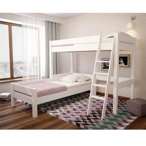 Narożne łóżko piętrowe białe Loli