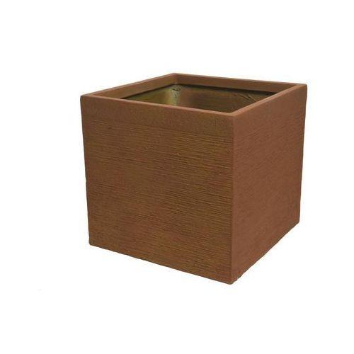 Donica kwadratowa 40 cm rdzawa z włókna szkalnego (8719152406999)