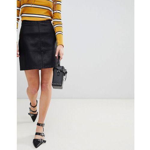 New Look Leather Look Mini - Black, kolor czarny