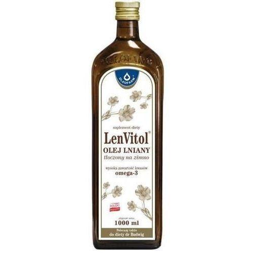 Lenvitol olej lniany budwigowy nieoczyszczony 1000ml marki Oleofarm