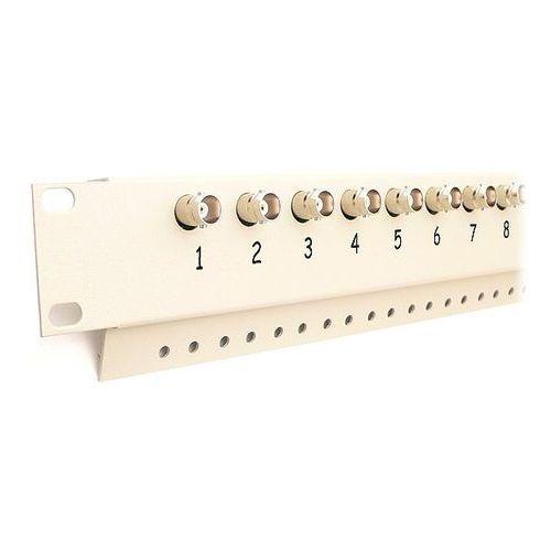 """Kraj Fkt-8-fps panel połączeniowy 8-kanałowy rack 19"""" konwerter utp, dystrybutor zasilania"""