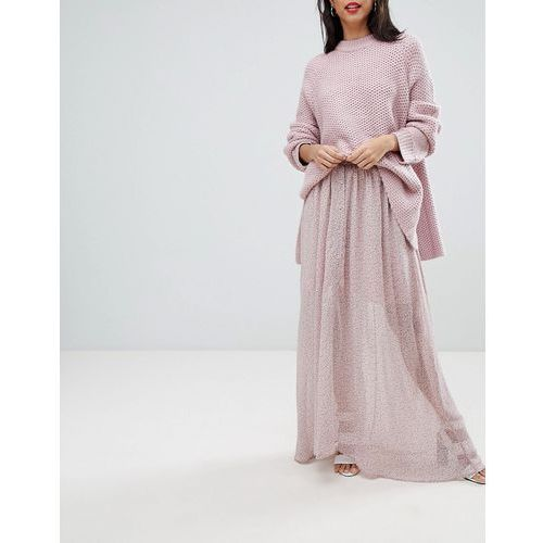 sheer floral maxi skirt - pink marki French connection