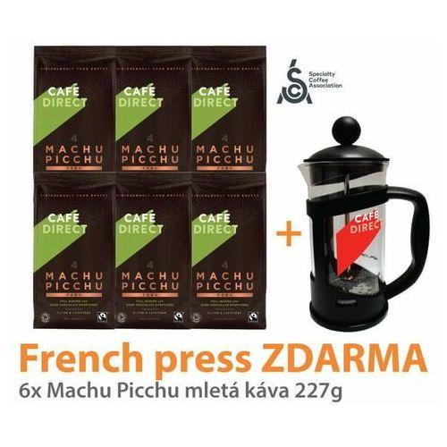 kawa mielona 6x bio machu picchu 227 g + french press 350 ml marki Cafédirect