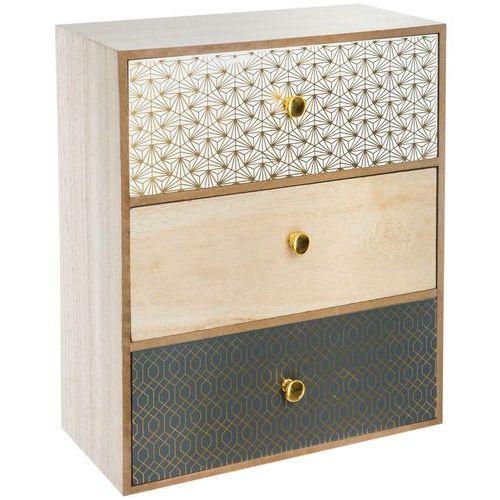 Atmosphera créateur d'intérieur Mini komoda drewniana, szafka z szufladami, kolorowa komoda, komoda dziecięca, komoda mała, nowoczesne komody, małe komody (3560239698517)