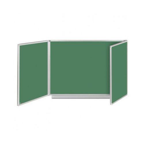 Tablica rozkładana, tryptyk, kredowa, magnetyczna, 240x90 cm marki B2b partner
