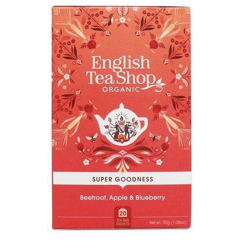 Herbatka ziołowa z burakiem, jablkiem i owocem dzikiej róży 20x1,5 g BIO 30 g English Tea Shop