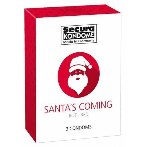 Secura Prezerwatywy santa's coming czerowne (1op./ 3szt.) (4024144416431)