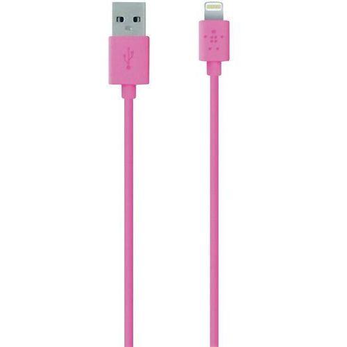 Belkin Kabel usb 2.0,  f8j023bt04-pnk, do ipoda, iphone'a, ipada, złącze lightning, 1,2 m, różowy