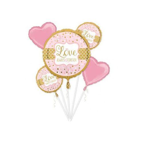 Bukiet balonów foliowych na wesele - 1 kpl. (0026635344562)