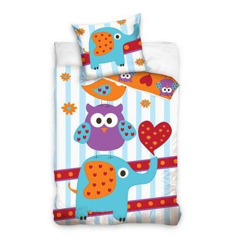 Tip Trade Dziecięca bawełniana pościel Sowa i słonik, 160 x 200 cm, 70 x 80 cm, 160 x 200 cm, 70 x 80 cm - produkt dostępny w 4HOME