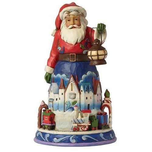 Jim shore Mikołaj i pociąg ekspres polarny christmas is coming round (santa with train) 4042963 figurka ozdoba świąteczna