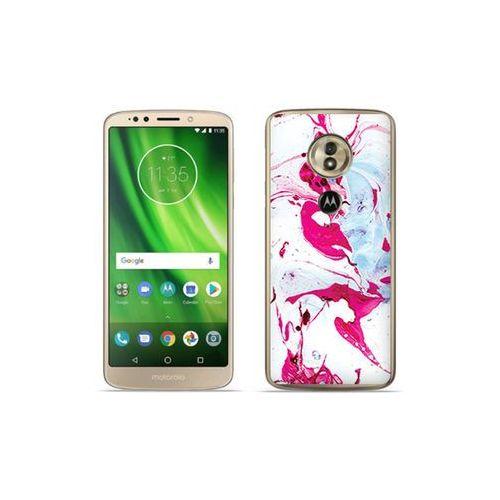 etuo Fantastic Case - Motorola Moto G6 Play - etui na telefon Fantastic Case - różowy marmur, kolor różowy