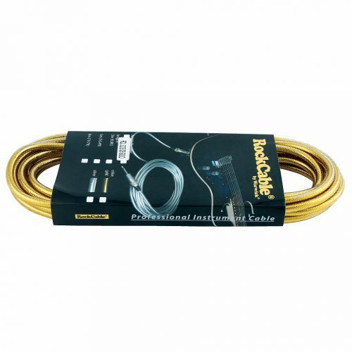 Rockcable kabel instrumentalny - straight ts (6.3 mm / 1/4), gold - 6 m / 19,7 ft.