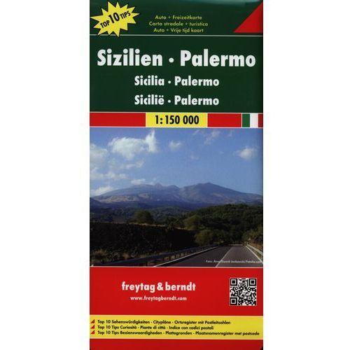 Sycylia, Palermo 1:150 000. Mapa samochodowa, składana. Freytag&Berndt, Freytagberndt