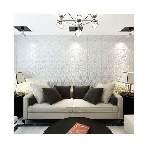 Panel ścienny 3D, łuki (0,5 m x 0,5 m) 24 panele 6m² - sprawdź w VidaXL