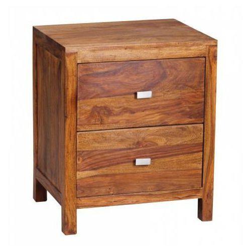 Machina Meble Palisander Lagos Szafka Nocna Drewno Sheesham Lite Drewno 2 Szuflady 50 x 40 x 60 cm - WL1.371 - produkt dostępny w Sanit-Express.pl