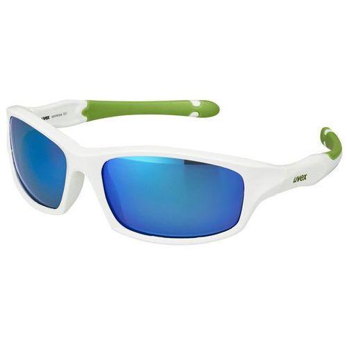 UVEX sportstyle 507 Kids Okulary rowerowe Dzieci biały 2018 Okulary przeciwsłoneczne dla dzieci (4043197243603)