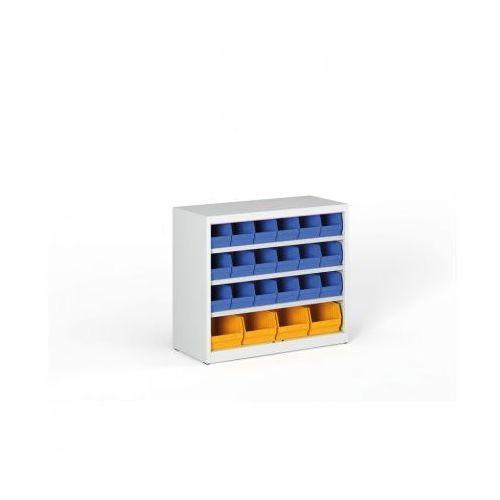 B2b partner Regał z plastikowymi pojemnikami - 800x920x400 mm, 18x b, 4x c