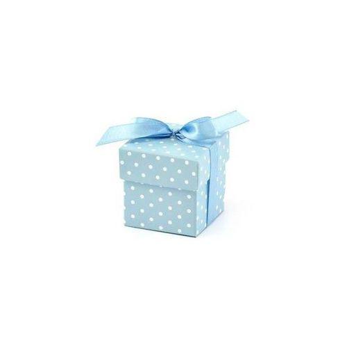 Ap Pudełeczka dla gości z kokardką błękitne - 10 szt.