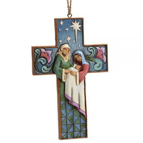 Święta Rodzina zawieszka krzyżyk Holy Family Cross (Hanging ornament) 4055129 Jim Shore figurka ozdoba świąteczna