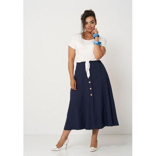 9a46e465ff6612 IDA NAVY długa spódnica na lato, kolor niebieski 129,00 zł Rozkloszowana, dluga  spódnica na lato. Ida to zwiewna i komfortowa opcja na upalne wakacje.
