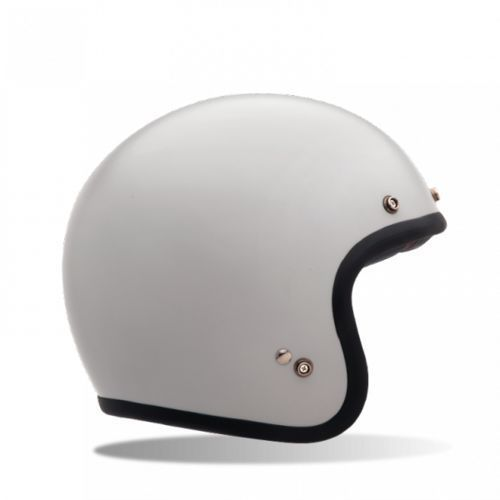 Bell custom 500 vintage solid white kask otwarty