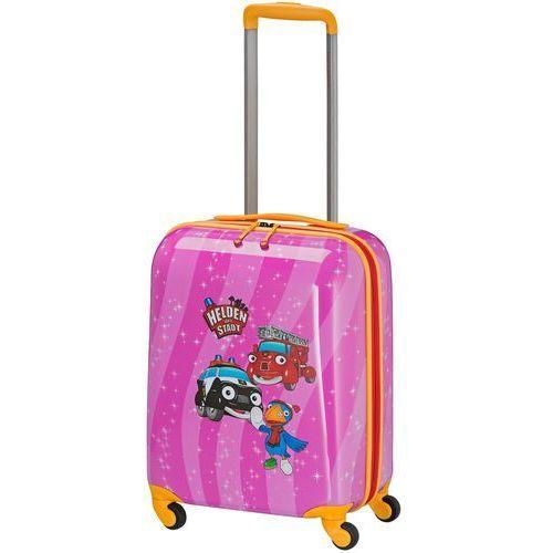 Travelite Bohaterowie Miasta walizka mała kabinowa dla dzieci 18/43 cm / różowa - Pink (4027002065086)