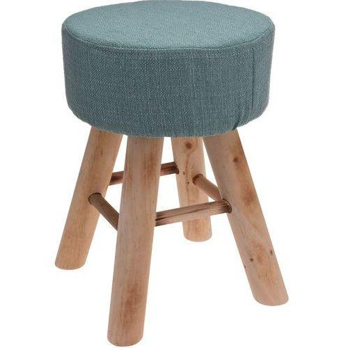 Miękki taboret czteronożny, stołek, podnóżek, pufa, kolor zielony