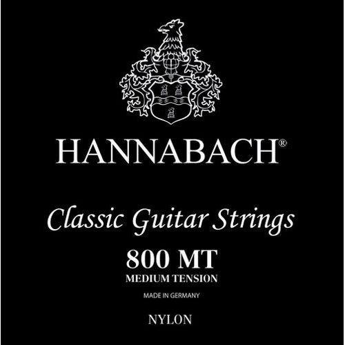 Hannabach (652379) E800 MT struny do gitary klasycznej (medium) - Komplet 3 strun Diskant
