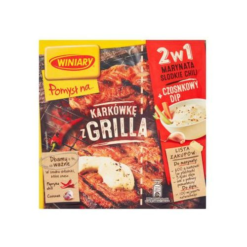 Karkówkę z grilla + marynata słodkie chili i czosnkowy dip