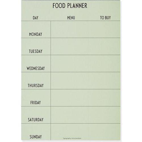 Planer tygodniowy posiłków zielony marki Design letters