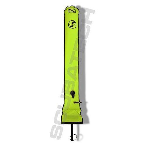 Scubatech Boja deco 25/150 cm, zawór nadmiarowy i kaczy dziób,żółta