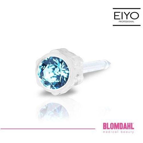 Blomdahl Kolczyk do przekłuwania uszu - aquamarine 4 mm
