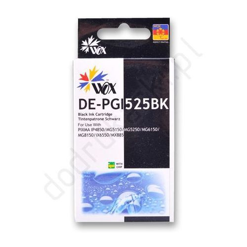 Canon PGI-525BK zamiennik tusz czarny z chipem - 28ml - produkt z kategorii- tusze