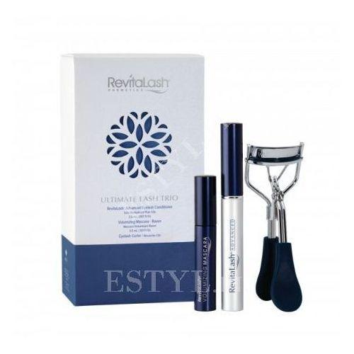 revitalash ultimate lash gift set | zestaw z zalotką (eyelash advanced conditioner 3,5ml + volumizing mascara raven 3ml + zalotka) marki Revitalash