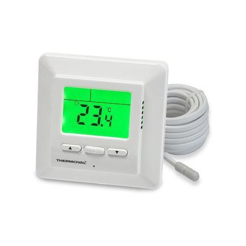 Regulator temperatury manualny pokojowy do puszki 60 biały TVT 01 Thermoval, TVT 01