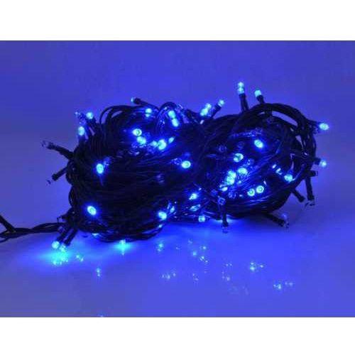 Elmak Lampki choinkowe  100 led zimny niebieski 9m